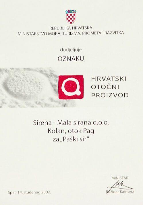 Croatian island product