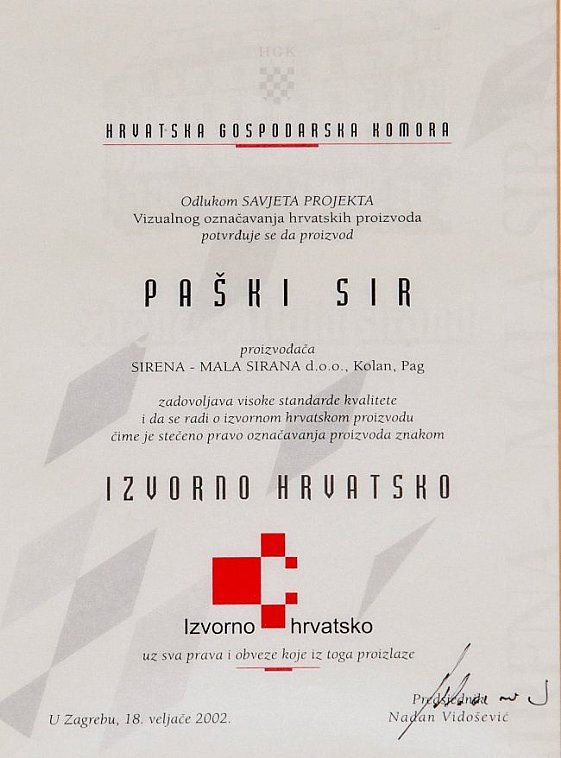 Ursprünglich Kroatisch