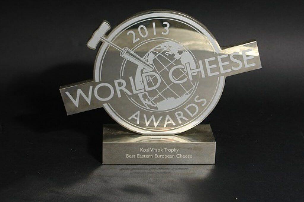"""Gagnant du """"Super Gold"""" et Trophée lors du concours """"World Cheese Awards"""", Londres, Royaume-Uni"""