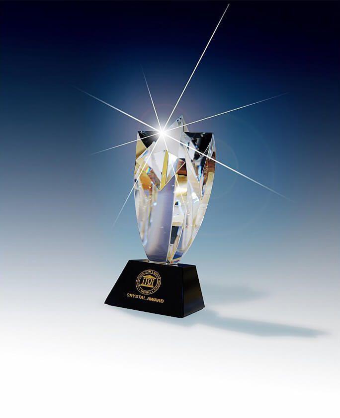 Award de cristal pour une qualité et un goût d'excellence